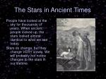 the stars in ancient times