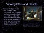 viewing stars and planets