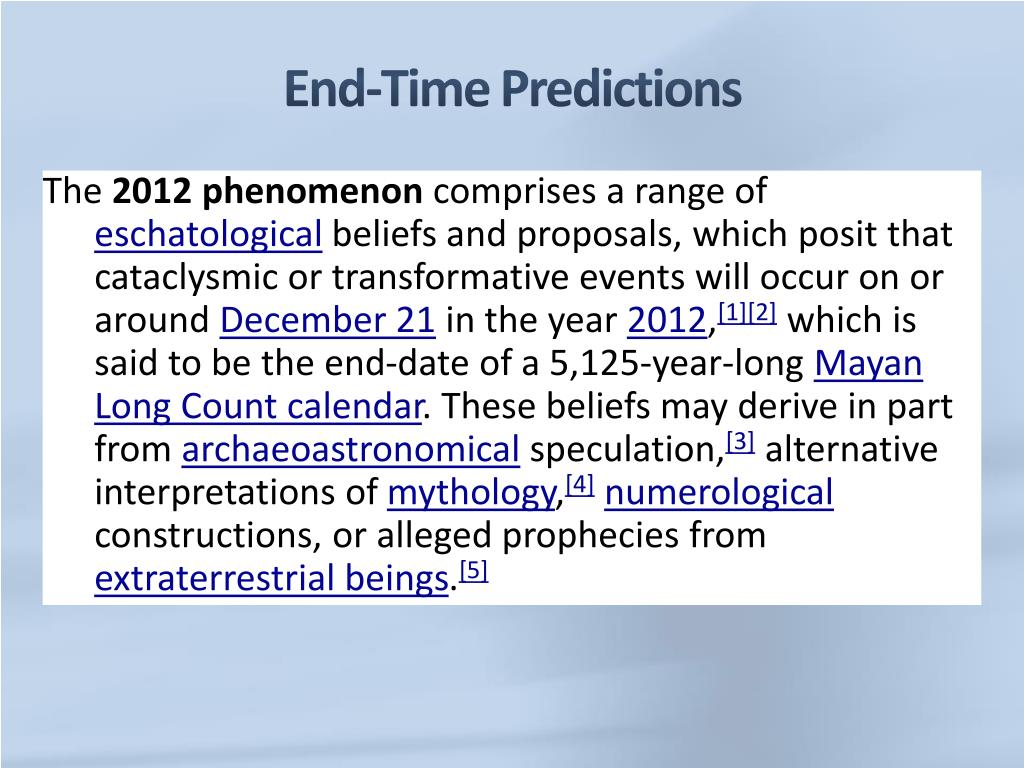 PPT - End-Time Predictions Do We Know When the World Will End