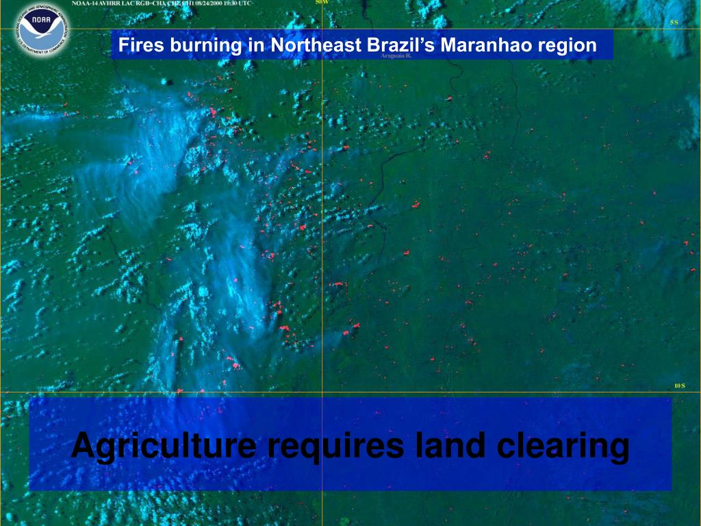 Fires burning in Northeast Brazil's Maranhao region