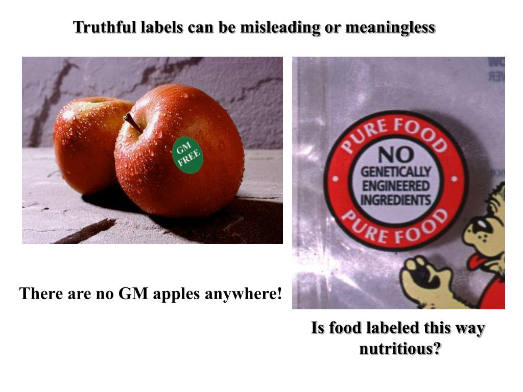 Truthful labels can be misleading or meaningless