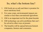 so what s the bottom line