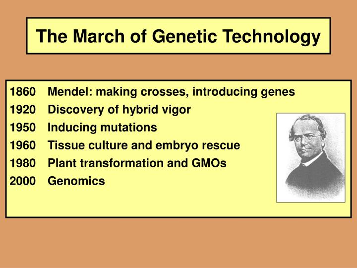 The march of genetic technology