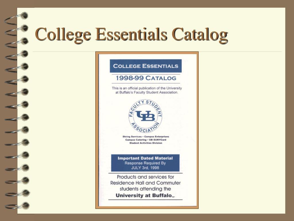 College Essentials Catalog