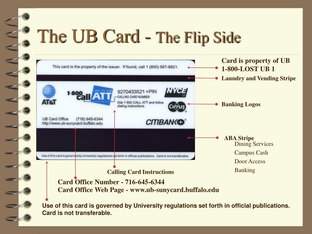 The UB Card -
