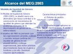 alcance del meg 2003