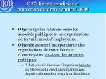 c 87 libert syndicale et protection du droit syndical 1948