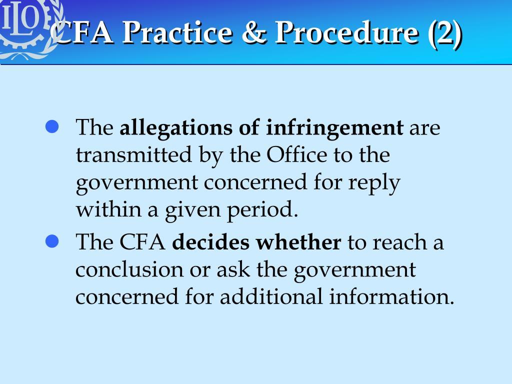 CFA Practice & Procedure (2)