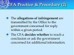cfa practice procedure 2
