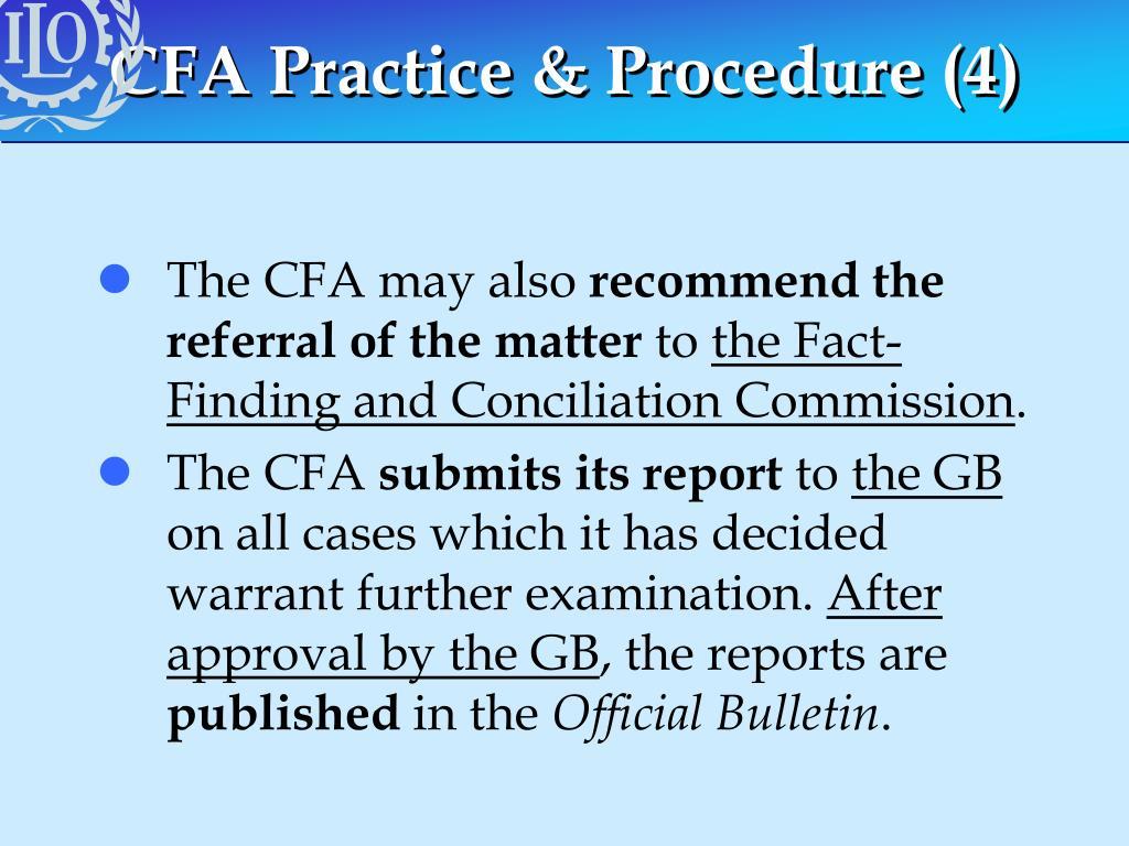 CFA Practice & Procedure (4)