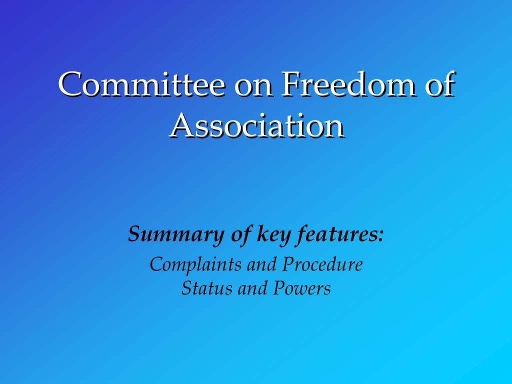 Committee on Freedom of Association