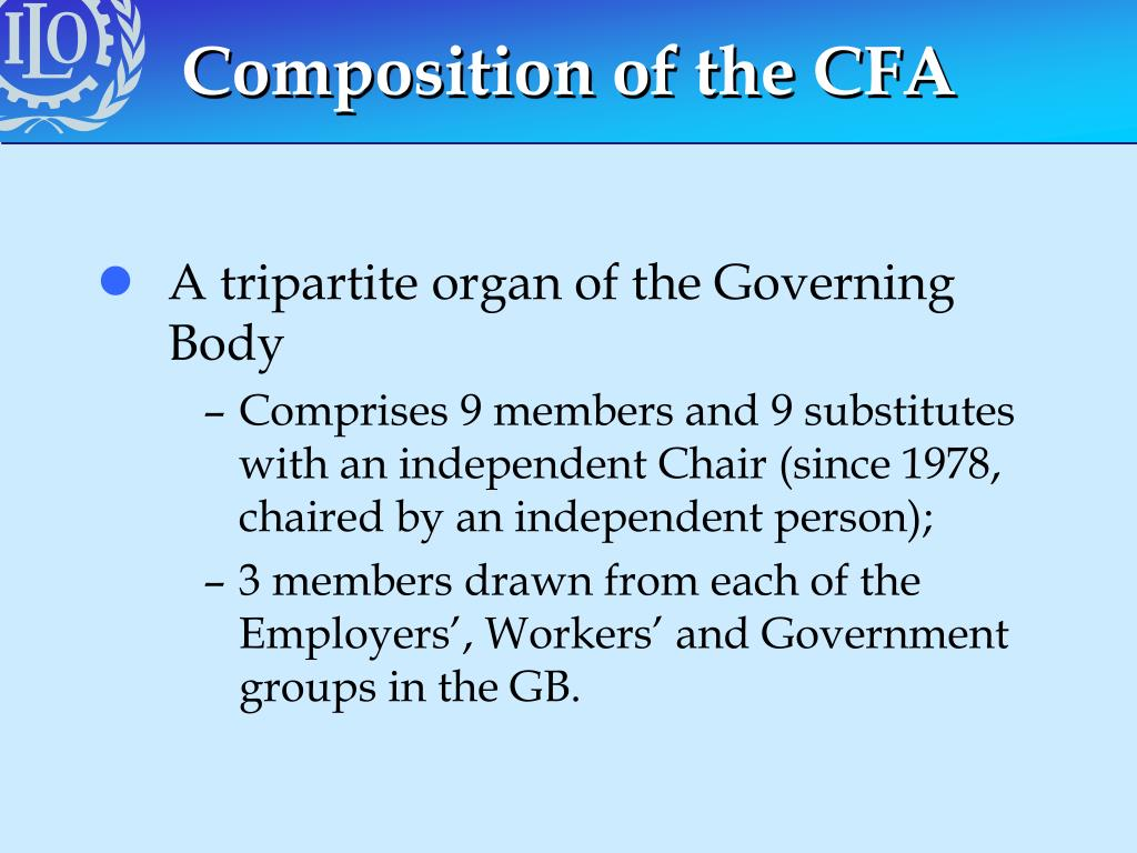 Composition of the CFA