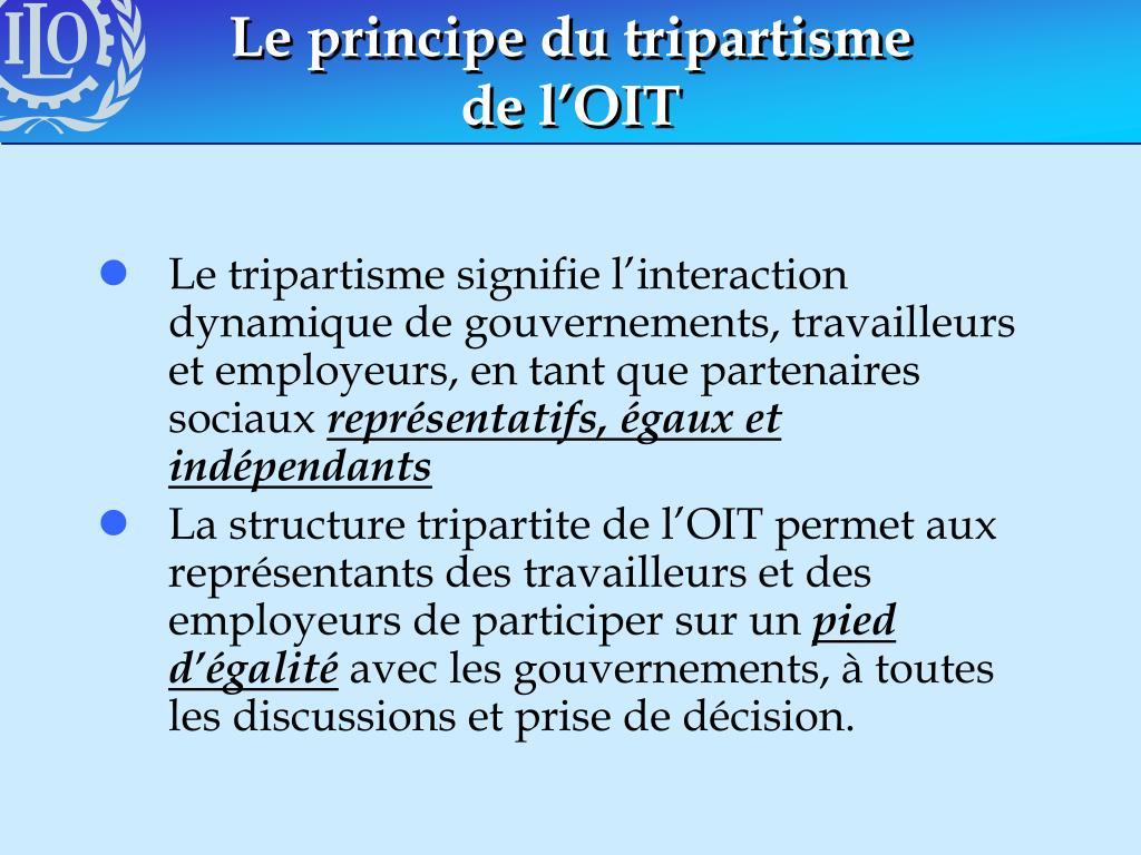 Le principe du tripartisme
