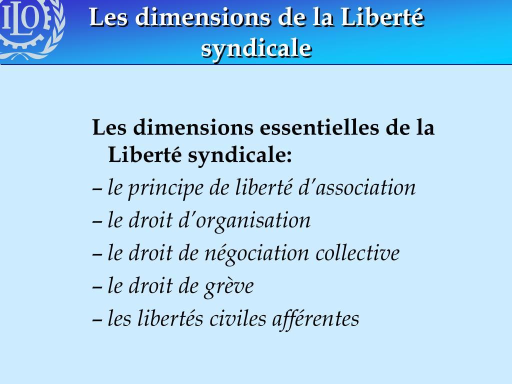 Les dimensions de la Liberté syndicale