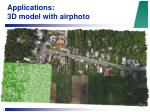 applications 3d model with airphoto19