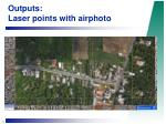 outputs laser points with airphoto14