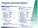 projects technical details