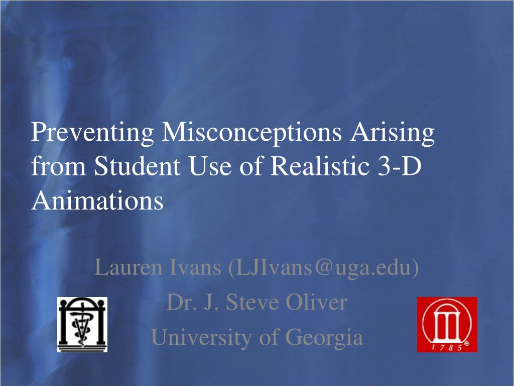 preventing misconceptions arising from student use of realistic 3 d animations l.