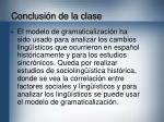 conclusi n de la clase
