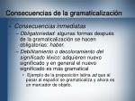 consecuencias de la gramaticalizaci n32