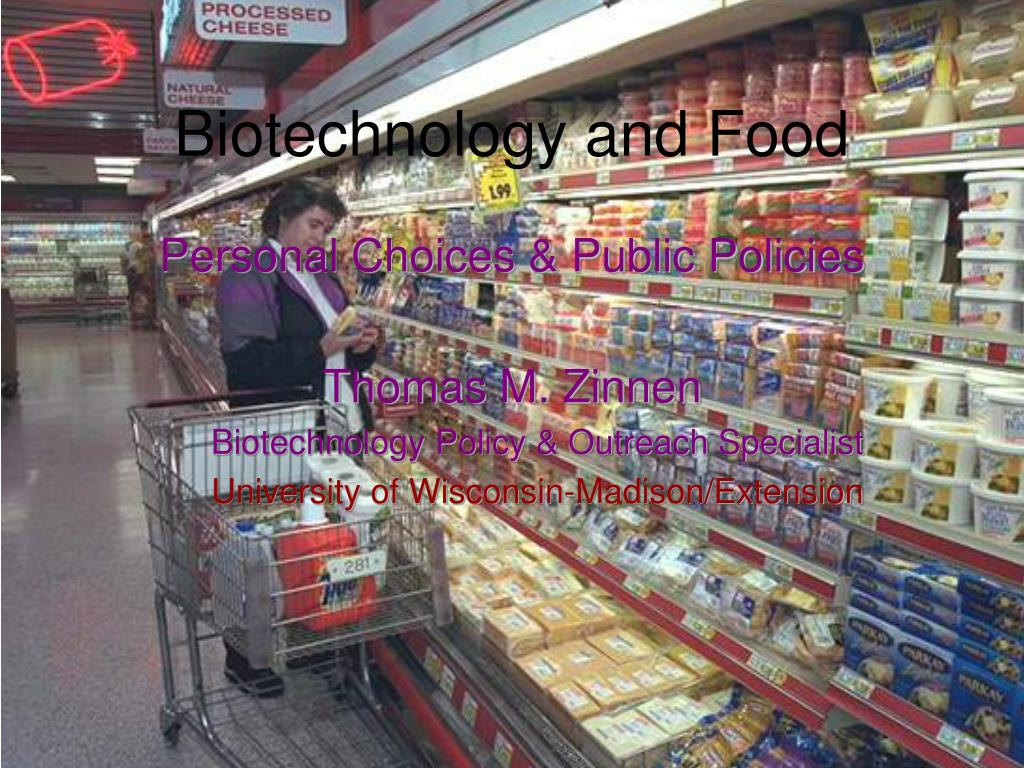biotechnology and food l.
