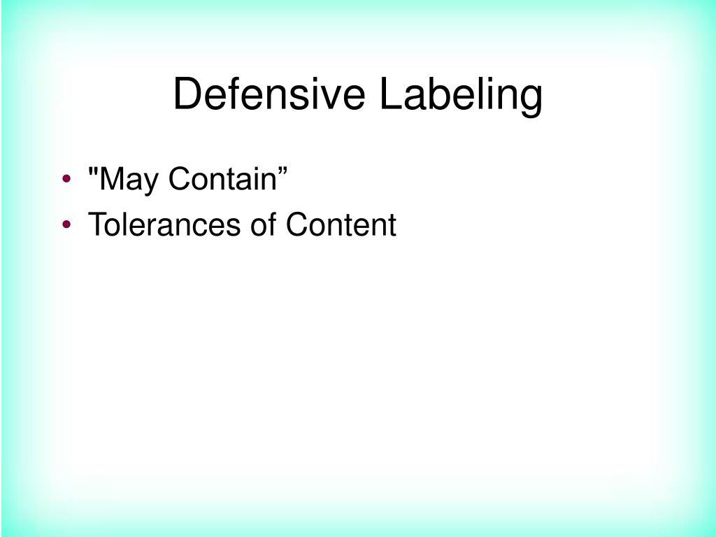 Defensive Labeling