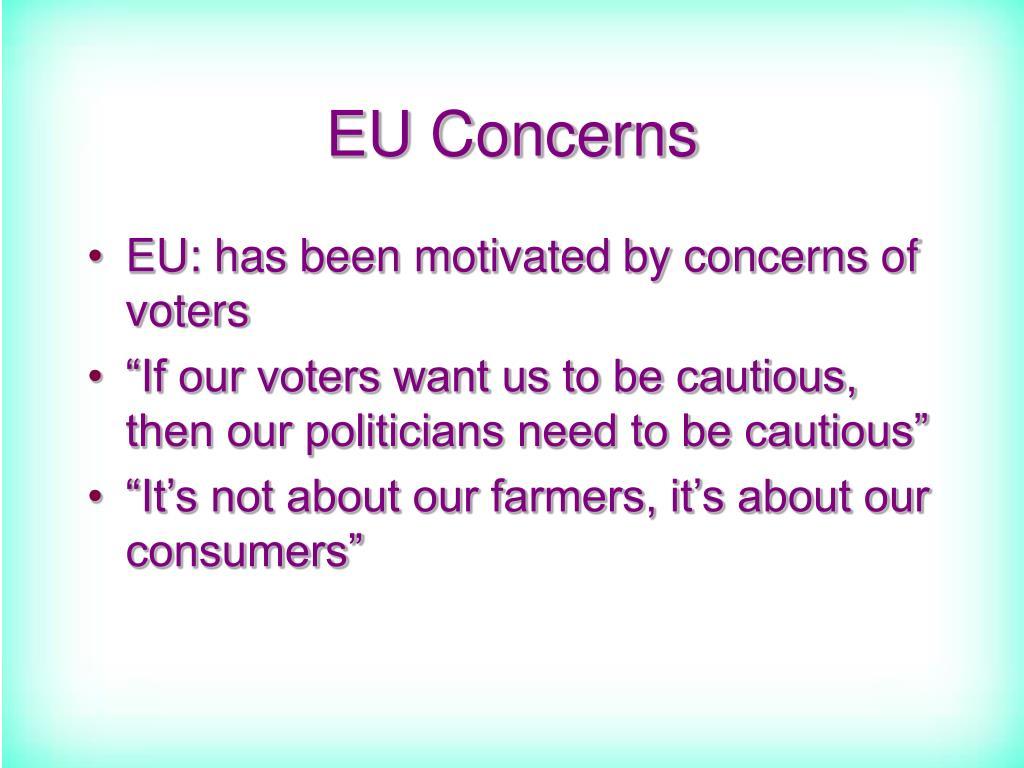 EU Concerns