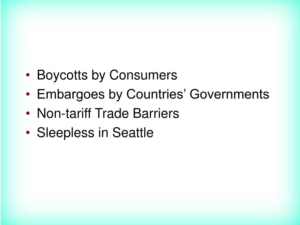 Boycotts by Consumers