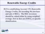 renewable energy credits41