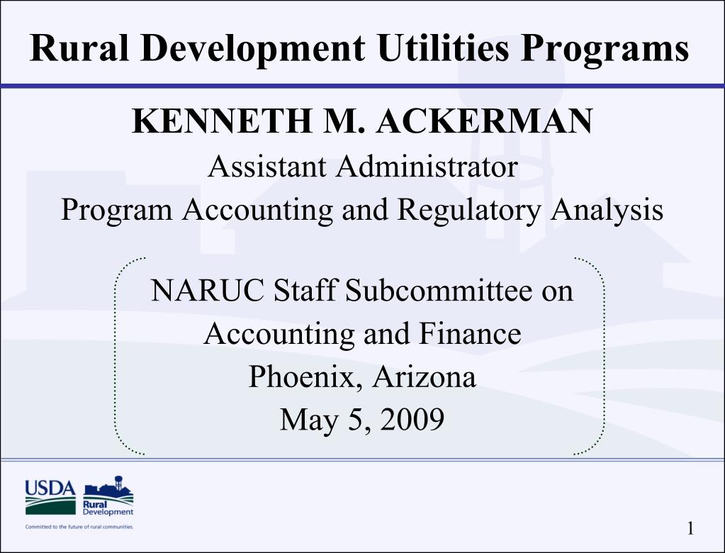 rural development utilities programs l.