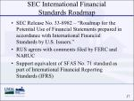 sec international financial standards roadmap