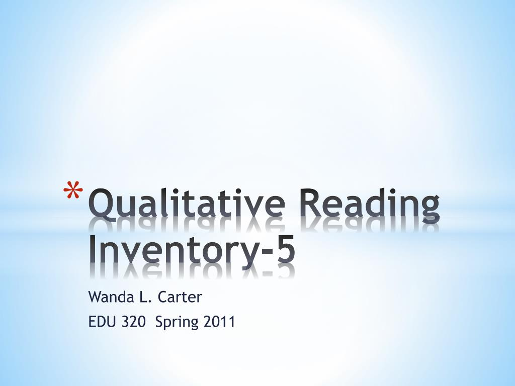 qualitative reading inventory 5 l.