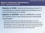 module 2 identifying a small business 002n identifying small biz