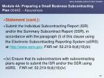 module 4a preparing a small business subcontracting plan 004ae assurances