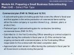 module 4a preparing a small business subcontracting plan 004b select plan type