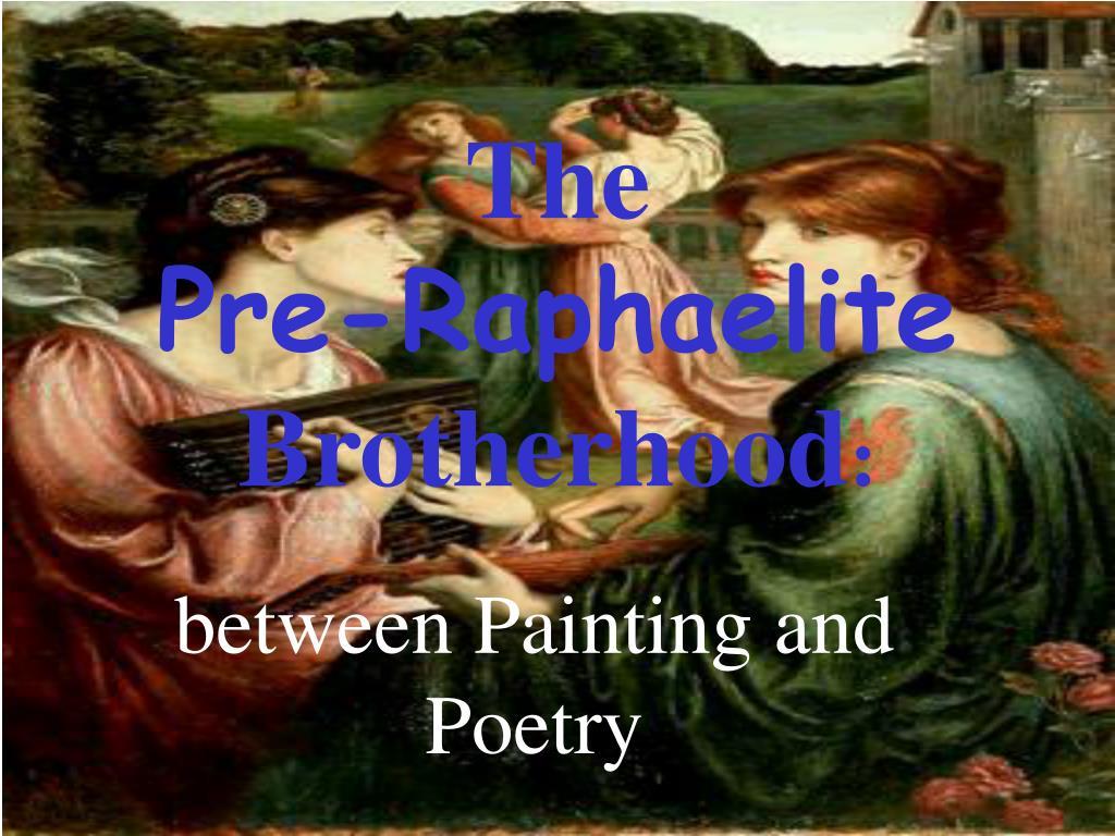 the pre raphaelite brotherhood l.