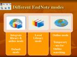 different endnote modes