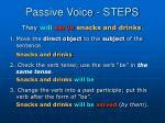 passive voice steps