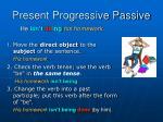 present progressive passive