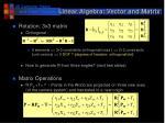 linear algebra vector and matrix29
