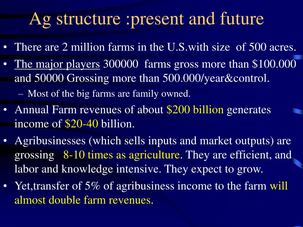 Ag structure :present and future