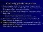 contracting promise and problems