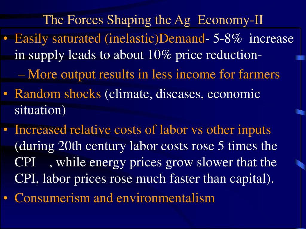 The Forces Shaping the Ag  Economy-II