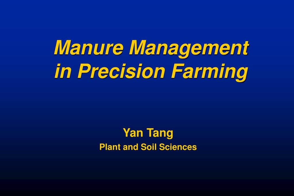 manure management in precision farming l.
