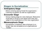 stages in socialization