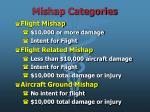 mishap categories