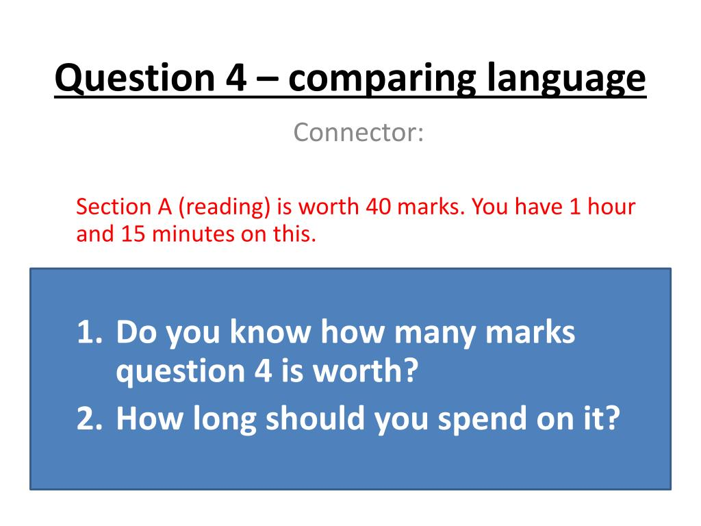 question 4 comparing language l.