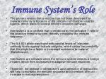 immune system s role