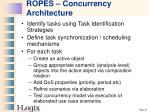ropes concurrency architecture