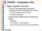 ropes integration test
